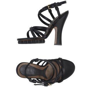 Marni Silk Satin Strappy Platform Heel Sandals
